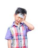 Little sick boy Stock Images