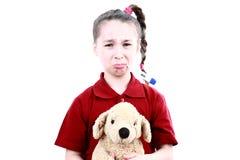 Little sick girl Stock Photos