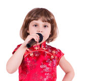 Little singer Royalty Free Stock Photos