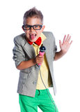 Little singer and showman Stock Photography