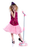 Little singer Royalty Free Stock Photography