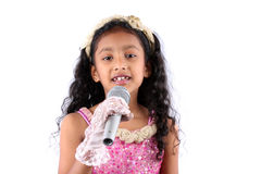 Little Singing Sensation Stock Images