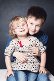 Little Sister and Brother Royalty Free Stock Image