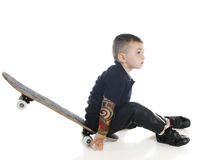 Little Skater at Rest Royalty Free Stock Photos