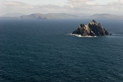 Little Skellig. View of little Skellig from Skellig Michael. They are the Skellig Islands, 12 Km from mainland in the Ring of Kerry, Ireland Stock Photography