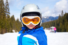 Little ski boy. Royalty Free Stock Photos