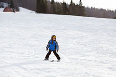 Little ski girl Royalty Free Stock Photo