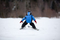 Little ski girl Royalty Free Stock Photo