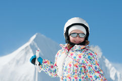 Little skier Royalty Free Stock Photos