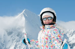 Little skier Royalty Free Stock Photo