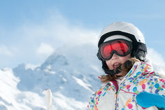 Little skier Royalty Free Stock Photography