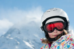 Little skier Stock Image