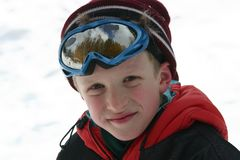 Little skier Royalty Free Stock Image