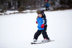 Little skier Stock Images