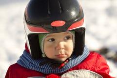 Little skier. Royalty Free Stock Photos