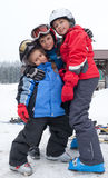 Little skiers Royalty Free Stock Photography
