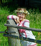 Little Slavic  girl Stock Photography
