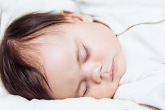 Little sleeping baby Royalty Free Stock Photography