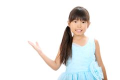 Little slitage klänning för asiatisk flicka Arkivbild