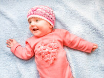 Little smiling baby girl Royalty Free Stock Photography