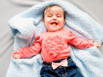 Little smiling baby girl Royalty Free Stock Photos