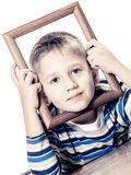 Little smiling boy child portrait Royalty Free Stock Photo
