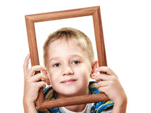 Little smiling boy child portrait Royalty Free Stock Photography