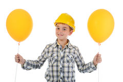 Little smiling builder in helmet Stock Photography