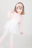 Little smiling girl in ballerina costume Stock Photo