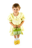 Little smiling girl with green Royalty Free Stock Photo