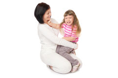 Little smiling girl with mother Royalty Free Stock Images