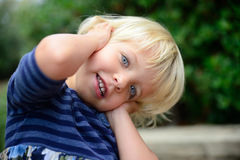 Little smiling girl. In the Park Royalty Free Stock Photography