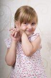 Little smiling girl Stock Photo