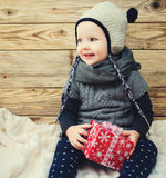 Little smiling girl sitting Royalty Free Stock Image