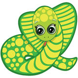 Little snake. One of the symbols of the Chinese horoscope royalty free illustration