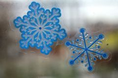 Little snow-flakes Royalty Free Stock Photography