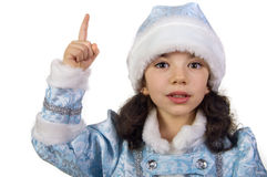 Little Snow Maiden. Girl dressed as Snow Maiden Royalty Free Stock Photos