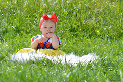 Little snow white baby Stock Image