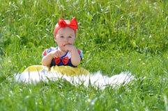 Little snow white baby Stock Image