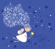 Little snowflake fairy vector illustration