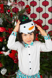 Little snowman boy Royalty Free Stock Photos