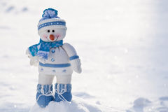 Little snowman with carrot nose. Royalty Free Stock Photography