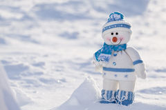 Little snowman with carrot nose. Stock Photo