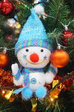 Little snowman, Christmas decorations Stock Images