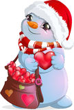 Little snowman postman Royalty Free Stock Photo