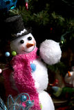 Little snowman with snowball Stock Images
