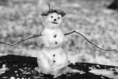 Little snowman Royalty Free Stock Photos