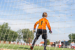 Little soccer goalkeeper Stock Photography