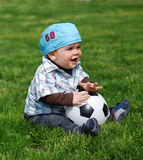 Little soccer player Royalty Free Stock Photos