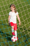 Little soccer player Stock Images
